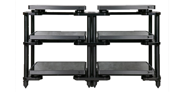 HRS's SXR Double Wide Audio Stand and M3X Isolation Bases